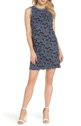 Julia Jordan Burnout Denim Shift Dress