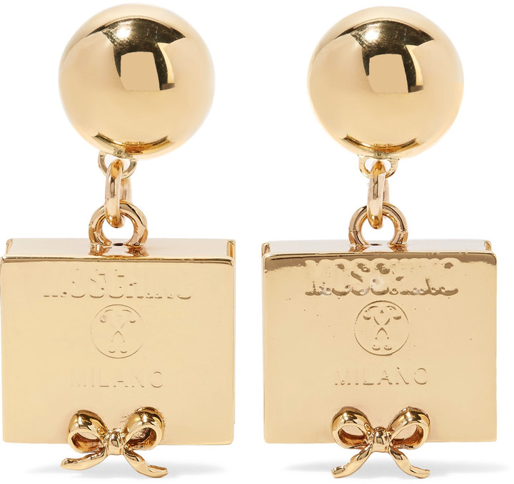 Moschino Moschino Gold-plated earrings