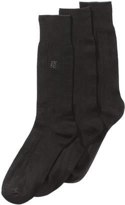 Perry Ellis Men 3-Pk. Textured Dress Socks