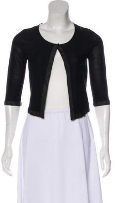 Narciso Rodriguez Silk Knit Cardigan