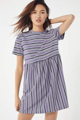 Urban Outfitters Striped Babydoll Frock Dress