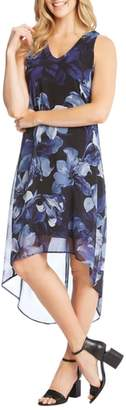 Karen Kane Floral Print High/Low Dress