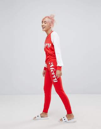 Wildfox Couture Merry Print Lounge Jogger