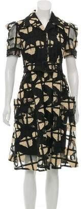 Co Embroidered Midi Dress