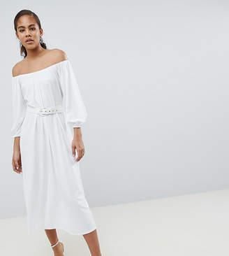 Bardot Asos Tall Asos Design Tall Midi Dress With Belt