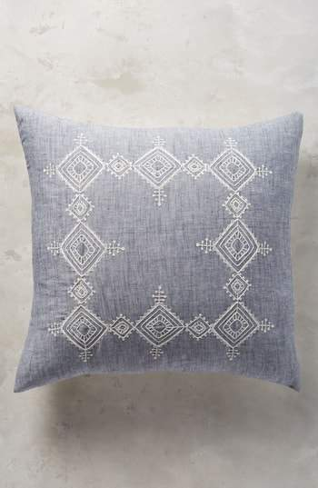 Embroidered Argenta Euro Sham
