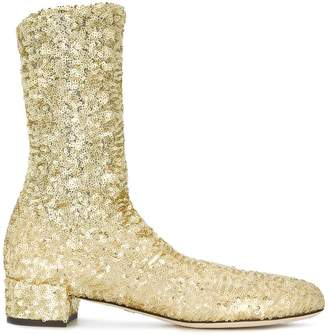 Dolce & Gabbana sparkly stretch ankle boots