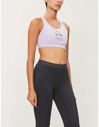 Calvin Klein logo-print sports bra