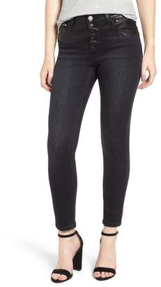 Current\u002FElliott The Fused Stiletto High Waist Skinny Jeans (Rocco with Faux Leather Piecing)