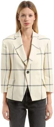 Vivienne Westwood Princess Wool Window Pane Jacket