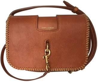 Saint Laurent Charlotte Messenger Camel Leather Handbag