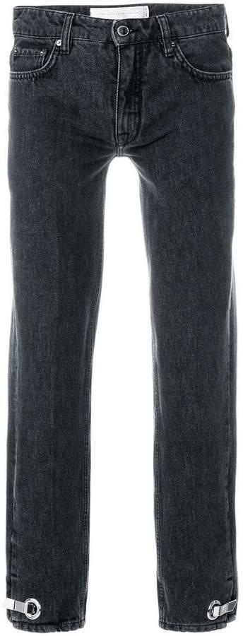 Victoria Victoria Beckham Cropped-Jeans mit hohem Bund