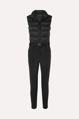 Perfect Moment Super Star Quilted Jumpsuit - Black