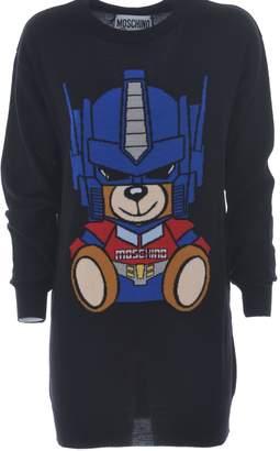 Moschino Long Teddy Print Sweater