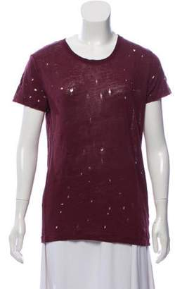 IRO Clay Distressed Neck T-Shirt Clay Distressed Neck T-Shirt