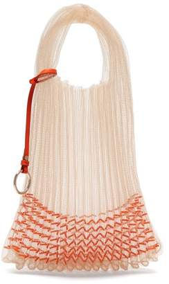 Jil Sander Beaded Small Market Bag - Womens - Orange