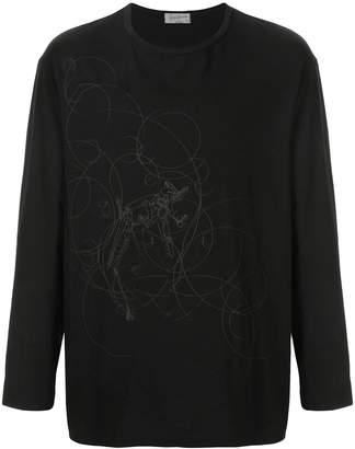 Yohji Yamamoto printed sweater