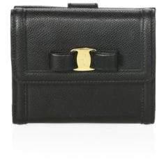 Salvatore Ferragamo Gancino Clip French Continental Leather Vara Bow Wallet