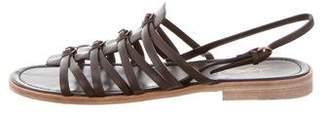 Saint Laurent Multistrap Leather Sandals
