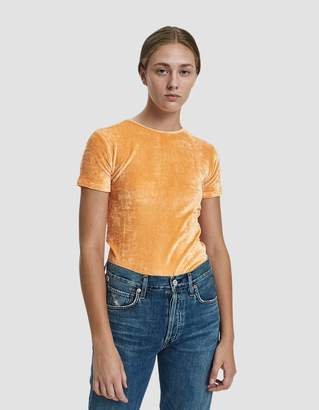 Base Range Baserange Omo Velour Tee in Luteal Peach