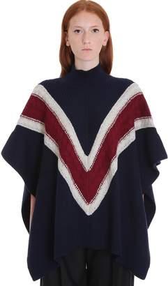 See by Chloe Poncho Knitwear In Blue Wool