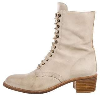 Charles David Leather Lace-Up Boots