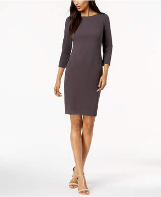 Calvin Klein Petite Split-Sleeve Scuba Sheath Dress
