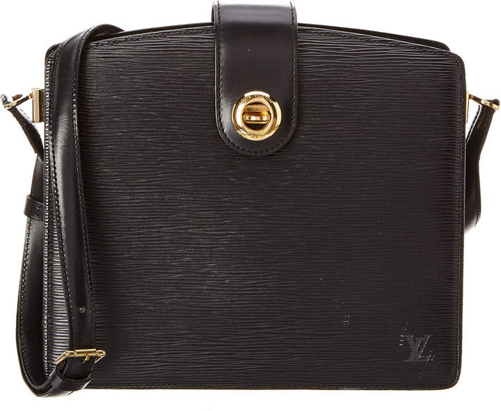 Louis Vuitton Black Epi Leather Capucines