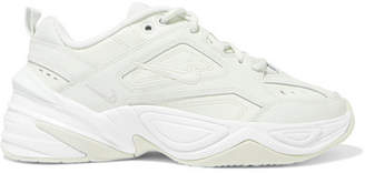 Nike M2k Tekno Leather And Mesh Sneakers - Green