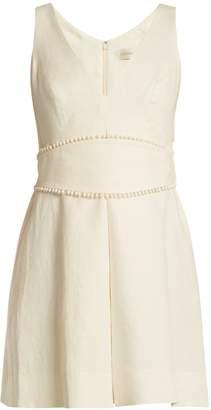Zimmermann Painted Heart V-neck linen dress