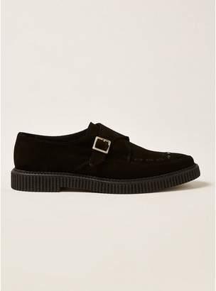 Topman Mens Black Suede Dray Monk Shoes