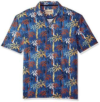 Margaritaville Men's Short Sleeve Bright Palms Johnny Collar Polo