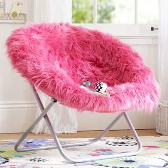 Pottery Barn Teen Pink Fur-rific Faux-Fur Hang-A-Round Chair