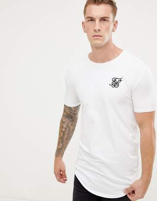 SikSilk short sleeve t-shirt in white