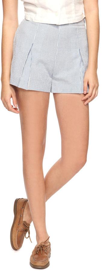 Forever 21 Seersucker Pinstripe Shorts