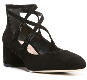 Women's Via Spiga Adonna Block Heel Pump $195 thestylecure.com