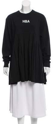 Hood by Air Long Sleeve Pleated Top