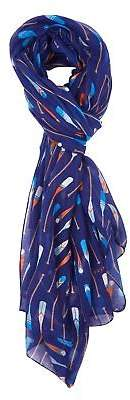 NEW Printed Village Womens Scarves Oars Scarf Size OneSize Blue