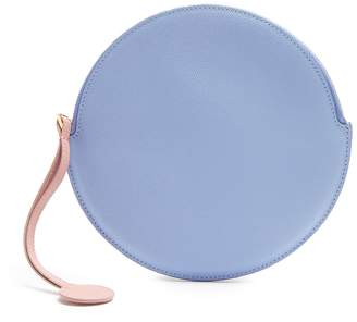 Roksanda Round pebbled-leather pouch