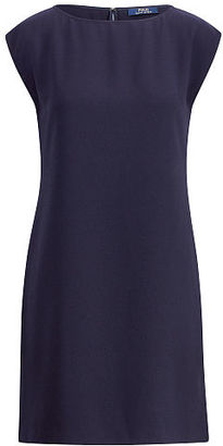 Polo Ralph Lauren Crepe Cap-Sleeve Dress $245 thestylecure.com