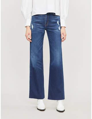 Selfridges Slvrlake Grace ripped straight-leg high-rise jeans