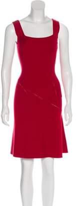 Alaà ̄a Virgin Wool Sleeveless Dress Red Alaà ̄a Virgin Wool Sleeveless Dress