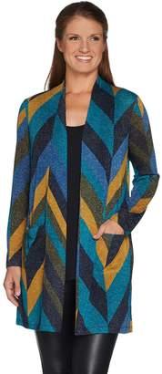 Susan Graver Chevron Lurex Knit Duster