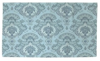 Blue Area Manual Woodworkers & Weavers Damask Pattern Rug Manual Woodworkers & Weavers