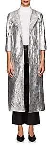 Osman Women's Joplin Faux-Leather Trench Coat - Silver