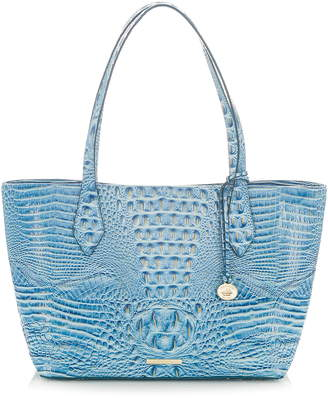 Brahmin Athen Croc-Embossed Leather Tote