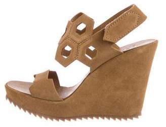 Pedro Garcia Suede Wedge Sandals