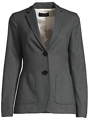 Piazza Sempione Women's Micro-Tweed Two-Button Blazer