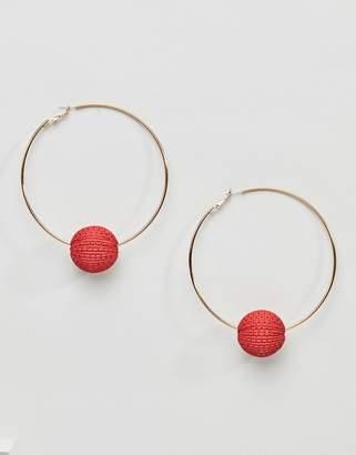 Missguided Wicca Ball Hoop Earrings