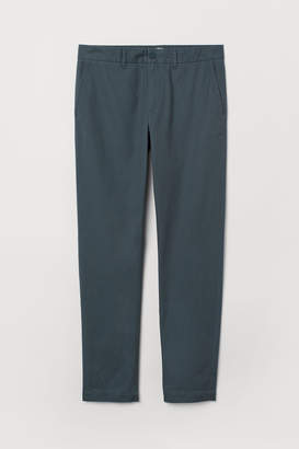 H&M Cotton Chinos Slim fit - Turquoise